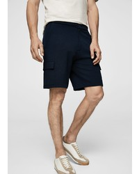 dunkelblaue Shorts von Mango Man