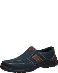 dunkelblaue Slip-On Sneakers aus Leder von Bama