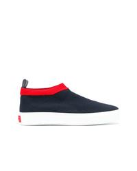 dunkelblaue Slip-On Sneakers aus Segeltuch von P.A.R.O.S.H.