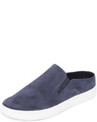 dunkelblaue Slip-On Sneakers aus Wildleder von Vince