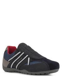 dunkelblaue Slip-On Sneakers von Geox