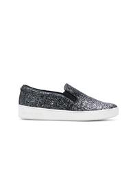 dunkelblaue Slip-On Sneakers von MICHAEL Michael Kors