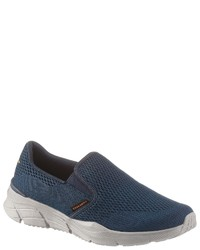 dunkelblaue Slip-On Sneakers von Skechers