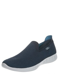 dunkelblaue Slip-On Sneakers von Skechers