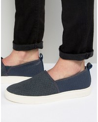 dunkelblaue Slip-On Sneakers von Ted Baker