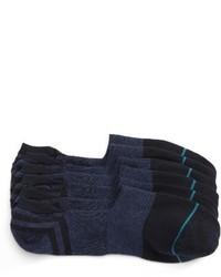 dunkelblaue Sneakersocken