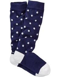 dunkelblaue Socke