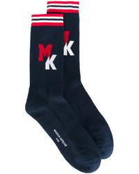 dunkelblaue Socken von MAISON KITSUNÉ