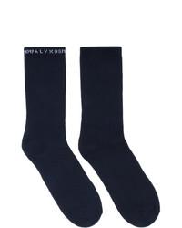 dunkelblaue Socken von 1017 Alyx 9Sm