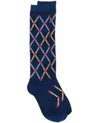 dunkelblaue Socken von MSGM