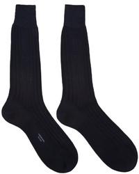 dunkelblaue Socken von Thom Browne