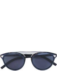 dunkelblaue Sonnenbrille von Christian Dior