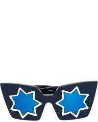 dunkelblaue Sonnenbrille von Linda Farrow Gallery