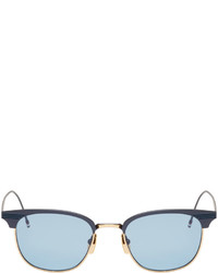dunkelblaue Sonnenbrille von Thom Browne