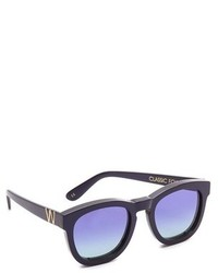 dunkelblaue Sonnenbrille von Wildfox Couture