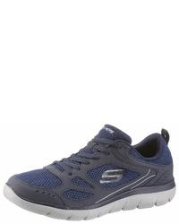 dunkelblaue Sportschuhe von Skechers