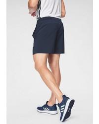 dunkelblaue Sportshorts von adidas