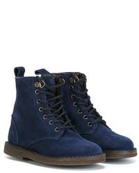dunkelblaue Stiefel aus Wildleder von Pépé