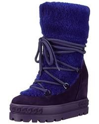dunkelblaue Stiefel von Casadei