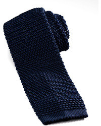 dunkelblaue Strick Krawatte