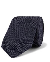 dunkelblaue Strick Krawatte von Brioni