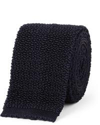 dunkelblaue Strick Krawatte von Drakes