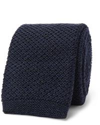 dunkelblaue Strick Krawatte von Hugo Boss