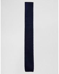 dunkelblaue Strick Krawatte von Selected