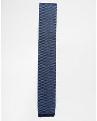 dunkelblaue Strick Krawatte von Ted Baker