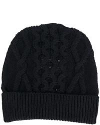 dunkelblaue Strick Mütze