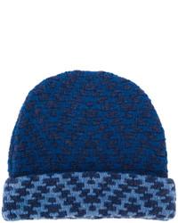 dunkelblaue Strick Mütze von Etro
