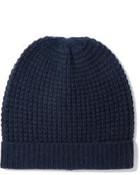 dunkelblaue Strick Mütze von Madeleine Thompson