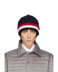 dunkelblaue Strick Mütze von Thom Browne