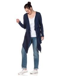 dunkelblaue Strickjacke mit einer offenen Front von SHEEGO BASIC