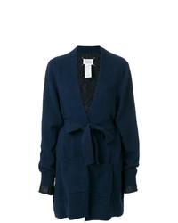 dunkelblaue Strickjacke mit einer offenen Front von Maison Margiela