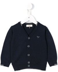 dunkelblaue Strickjacke von Armani Junior