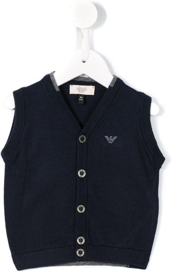 dunkelblaue Strickjacke von Armani Junior