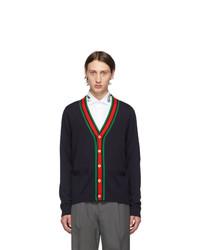 dunkelblaue Strickjacke von Gucci