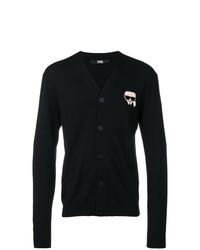 dunkelblaue Strickjacke von Karl Lagerfeld