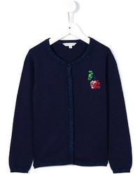 dunkelblaue Strickjacke von Little Marc Jacobs