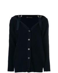 dunkelblaue Strickjacke von Versace