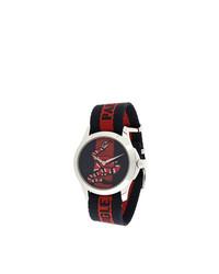 dunkelblaue Uhr mit Schlangenmuster von Gucci