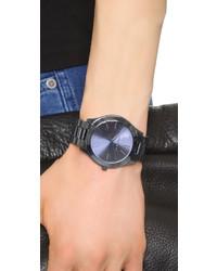 dunkelblaue Uhr von Michael Kors