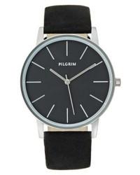 dunkelblaue Uhr von Pilgrim