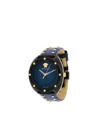 dunkelblaue Uhr von Versace