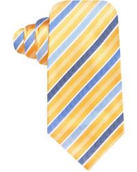 dunkelblaue und gelbe vertikal gestreifte Krawatte