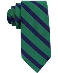 dunkelblaue und grüne Krawatte mit Schottenmuster