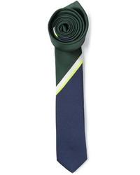 dunkelblaue und grüne vertikal gestreifte Krawatte von Valentino