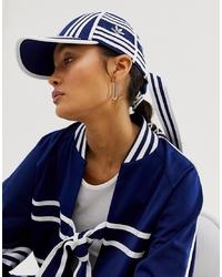 dunkelblaue und weiße bedruckte Baseballkappe von adidas Originals