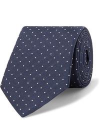dunkelblaue und weiße gepunktete Krawatte von Paul Smith